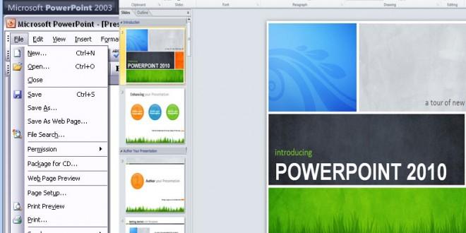 طريقى التعامل مع نظام الـ Ribbon فى PowerPoint 2007, 2010  والفرق بينه وبين نظام القوائم PowerPoint 2003