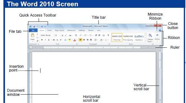 حمل المرجع السريع Microsoft Word 2010