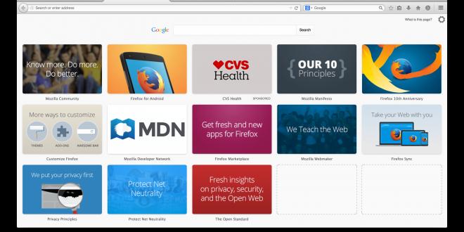 المتصفح موزيلا سيوقف عرض الإعلانات عند فتح تبويب جديد في فايرفوكس
