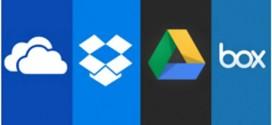 مقارنة بين مميزات كل من OneDrive, Dropbox, Google Drive and Box فى التخزين السحابى
