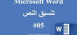 احتراف برنامج Microsoft Word – تنسيق النصوص